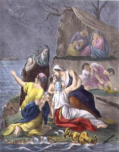 The Flood, From A Bible Printed By Edward Gover