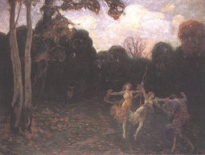 Dancing Girls At The Edge Of The Forest