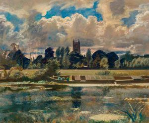 Dedham Painted From Lock Cottage