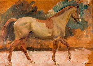 Study Of 'rufus', A Chestnut Horse