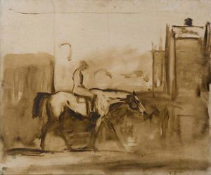 Study Of A Horse And Rider
