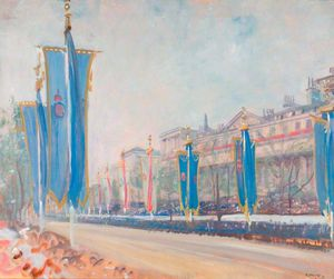 Study Of The Decorations In The Mall For The Coronation Of George Vi