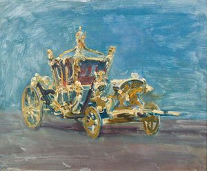 Study Of The Gold Coach In The Palace Yard