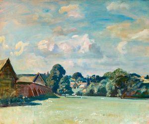 Suffolk Landscape With Farm Buildings