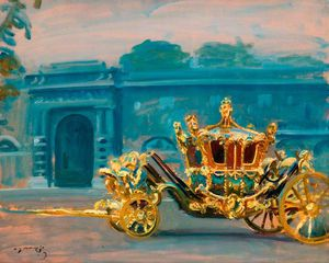 The Gilded Coach, Painted In The Palace Yard In Grey Weather