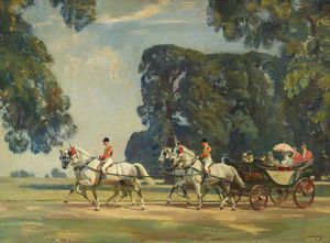 The Royal Carriage Entering The Long Walk, Windsor