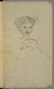 Man Smoking A Pipe