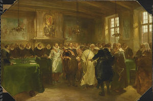 Prince Maurits Of Orange Receiving A Delegation From Russia