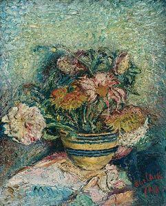 fiori in a `yellowware` ciotola
