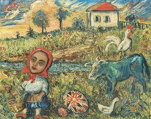 dem Bauernhof garten