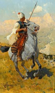 Armed Circassian Horse Galloping