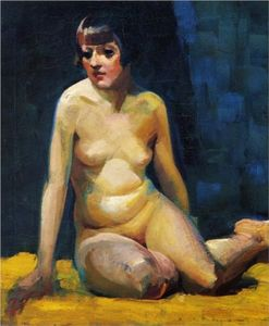 Seated Nude With Bobbed Hair