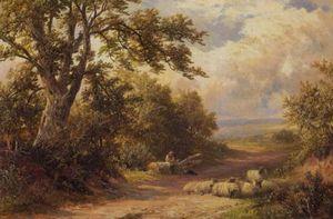 In A Derbyshire Lane Art Print
