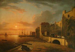 Southampton Town Quay At Sunset