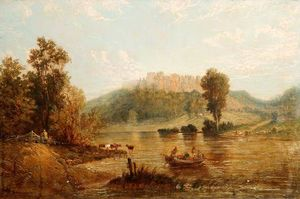 Lake And Castle Scene