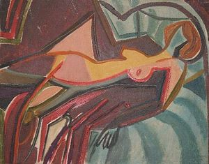 Abstract Reclining Nude