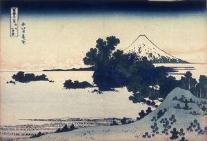 Fuji From The Shichirigahama Beach In Sagami Province