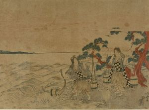 Matsukaze And Murasame Gathering Sea