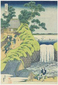 Waterfall At Aoigaoka In Edo