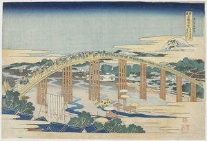Yahagi Bridge At Okazaki On The Tokaido