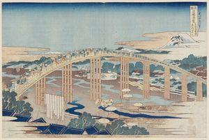 Yahagi Bridge At Okazaki On The Tôkaidô Road
