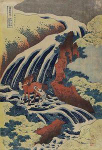 Yoshitsune Horse-washing Falls At Yoshino In Yamato Province