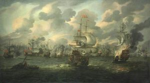 The Burning Of Hms