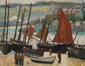 Beached Fishing Boats