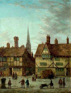 Corner Of Market Place, Newark, Nottinghamshire