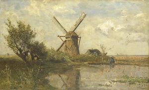 Mill On A Lake