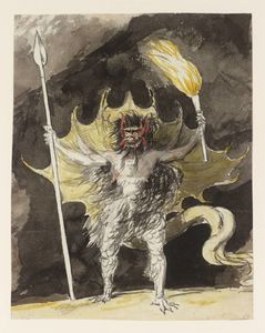 A Devil With Torch And Spear