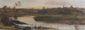 Twilight On The River Arun