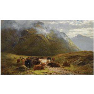Highland Cattle Resting Near Buchal Etive, Glen Coe