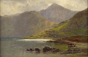 Mists Lifting Over A Highland Loch