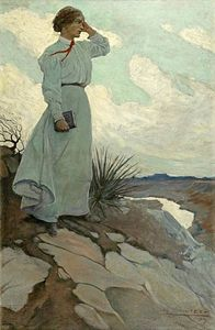 Louise Loved To Climb To The Summit On One Of The Barren Hills Flanking The River And Stand There While The Wind Blew