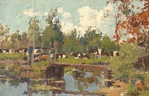 Cows On The Water's Edge