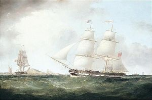The Brazil Packet In Two Positions Off The Coast