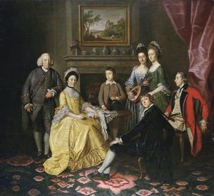 Gathered Around A Table In An Interior