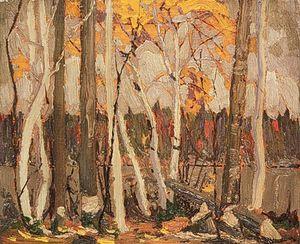 Autumn Birches And Poplars