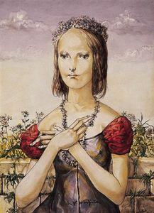 Jeune Femme Parée De Fleurs