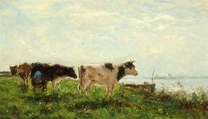 Cows By The Waters' Edge