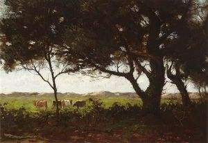 Cows In A Wooded Landscape
