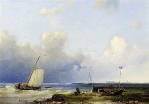 Brewing Storm On The Dutch Coast