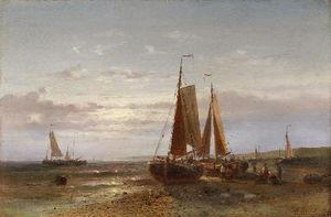Coastal Landscape With Sailing Ships