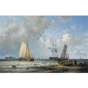 Dutch Barges In A Calm