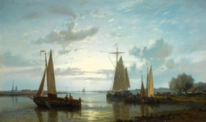 Fishing Boats On The Scheldt