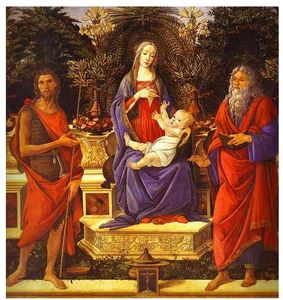 Virgin And Child Enthroned Between Saint John The Baptist And Saint John The Evangelist (bardi Altarpiece)