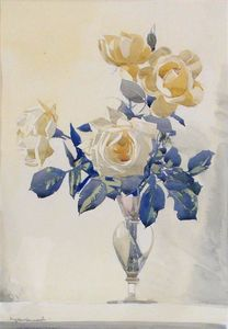 Still Life - Roses In A Glass Vase