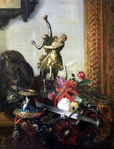 Still Life With A Bronze Statue