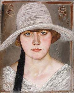 の肖像画 女性 には 帽子
